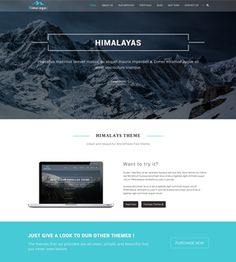 Himalayas is free modern one page parallax style responsive WordPress theme. Download it now and create business, agency, portfolio, corporate and any site.