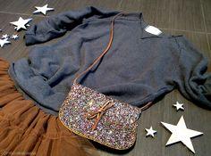 Fashion look Frugoo and Handmade glitter bag - www.momeme.it