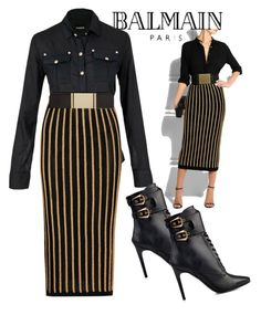 """""""Balmain on the Brain"""" by two-faced-honey ❤ liked on Polyvore featuring Balmain"""