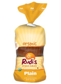Rudi's Gluten Free Bakery Organic Plain Bagels - CONTAINS: wheat. Baked in a facility that also uses eggs & soy. Non-GMO, Soy-Free, Vegan, Dairy-Free, Kosher, & No High-Fructose Corn Syrup. http://www.rudisbakery.com/organic/product/plain-bagels/