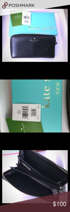 Kate Spade Soft Leather Wallet In perfect condition with many departments for your personal stuff. The leather feels like butter in your hands. kate spade Bags Wallets