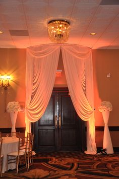 Draperies by M & P Floral and Event Production www.weddingbymp.com