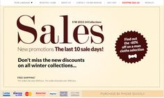 The last 10 #Sales Days on #Massaboutique.eu - up to #60% off on #Fall/Winter #Collection!! #fashion #clothing #accessories #shoes #man #topbrand #promotions