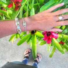 Join the Jolie #armparty with our  Jolie Statement Bracelet + Jolie Crystal Bracelet!