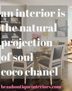 Beau Boutique Interiors: Interior design quote of the day