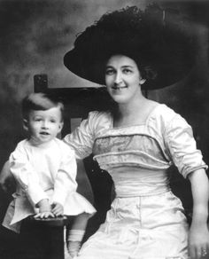 A 2-year-old Jimmy Stewart with his mother Elizabeth