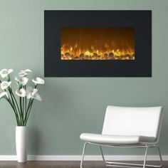 Northwest 36 in. Electric Fireplace Color Changing Wall Mount Floor Stand in – The Home Depot – Freestanding fireplace wood burning Mounted Fireplace, Fireplace Heater, Freestanding Fireplace, Fireplace Inserts, Brick Fireplace, Fireplace Design, Fireplace Ideas, Double Sided Electric Fireplace, Wall Mount Electric Fireplace