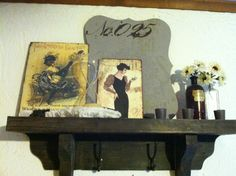 Eclectic shelf decor
