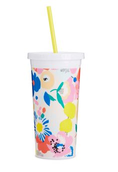 Sip Sip Tumbler With Straw-Mega Blooms #accessories #ban-do #drinkware #gift #home #new #spring-break #under-40