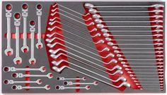 Foam Tooling organization - tool box Garage Tool Organization, Diy Garage Storage, Garage Tools, Garage Workshop, Garage Organization, Tool Storage, Garage Ideas, Tool Box Foam, Wrench Holder