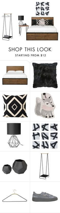 """bedroom"" by mischa-hemmings on Polyvore featuring interior, interiors, interior design, thuis, home decor, interior decorating, Moe's Home Collection, Bloomingville, WALL en Yamazaki"