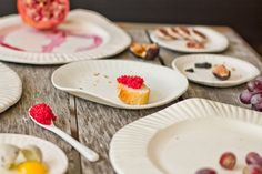 Paper Plates EXCLUSIVE: Delicate one-of-a-kind porcelain plates that look like paper plates.