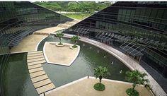 GMB Architects, Sunken plaza, Nanyang Technological University, Singapore