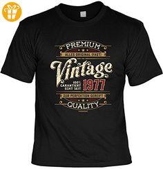 Lustiges Geburtstagsgeschenk Leiberl für Männer T-Shirt mit Urkunde Premium alles Original -fast- ...echt seit 1977 Leibal zum Geburtstag (*Partner-Link)