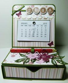 kleine Stempelwunder: Easelcard Kalender mit Matchbox und Workshop