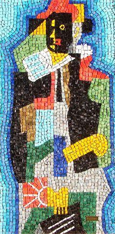 "Harlequin smalti mosaic by Romanos, 31.5"" x 15.75"""