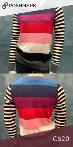 Gap Stripe Sweater Gap multi stripe sweater. Make an offer! GAP Sweaters Crew & Scoop Necks Gap Sweaters, Cable Knit Sweaters, Black Sweaters, Yellow Sweater, Grey Sweater, Band Jacket, Cotton Sweater, Grey Stripes, Closet
