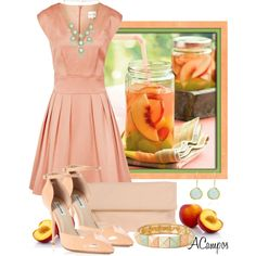 Peach Delight by anna-campos on Polyvore