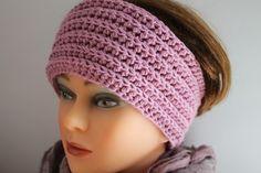 Stirnbänder - Stirnband häkeln aus Wolle * Farbe Heidekraut - ein Designerstück von ArtEve bei DaWanda