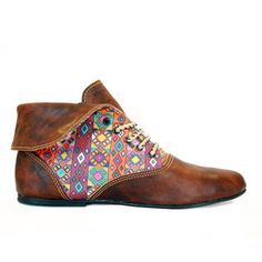 Huipile Bootie Women's Brown, $105, now featured on Fab.