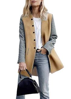 Orangeskycn Women Double Breasted Retro Blazer Jacket Overcoat