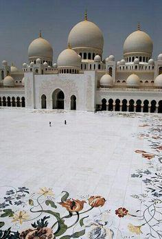 Main entrance of Sheikh Zaid Masjid Dubai UAE