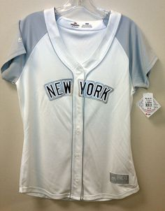 99 Cent Auction #NewYorkYankees Ladies Jersey LRG NEW/NWT #Majestic Sewn On Glitter Letters #NY #Yankees