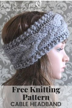 Knitting PATTERN - Cable Knit Headband Pattern This elegant. : Knitting PATTERN – Cable Knit Headband Pattern This elegant knit headband pattern features an easy cable design. It's perfect for everyone, including children, boys, girls, women and men! Knitting Blogs, Baby Knitting Patterns, Knitting Stitches, Free Knitting, Crochet Patterns, Beginner Knitting, Finger Knitting, Scarf Patterns, Knitting Tutorials