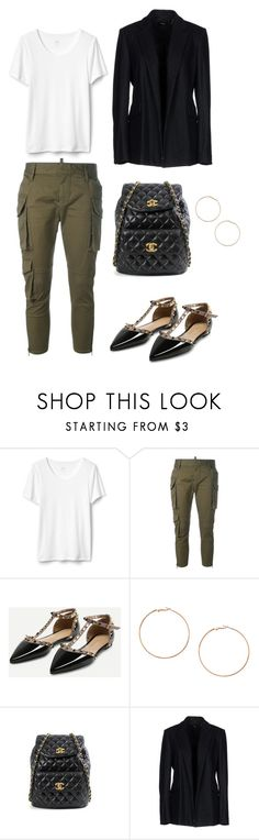 Pinstripe by paolal15 on Polyvore featuring moda, Theory, Dsquared2, Chanel and H&M