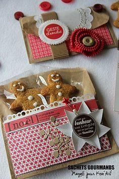 omini Pepparkakor Gåva Present Kort Christmas Gingerbread, Christmas Cookies, Christmas Holidays, Christmas Crafts, Xmas, Christmas Recipes, Christmas Gift Wrapping, Handmade Christmas, Envelopes