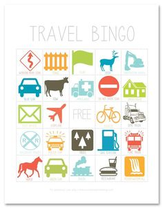 If you& got family travel plans that involve long hours spent in the car, be sure to check out this fun printable travel BINGO game to help keep the kids entertained on your next family road trip! Road Trip Activities, Road Trip Games, Activities For Kids, Car Games For Kids, Fun Games, Toddler Games, Travel With Kids, Family Travel, Travel Bingo