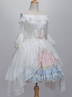 Sweet Lolita Blouse The Princess In The Forest White Chiffon Lace Trim Lolita Shirt - Milanoo.com