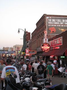 """Home of the Blues"", Beale Street in Memphis, Tennessee"