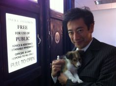 Mythbuster Grant Imahara, standing in front of a TARDIS, dressed like the 10th Doctor, holding a sonic screwdriver … and a puppy. And I'm dead. (via Quantum Mechanix on Twitter)