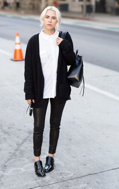 black & white. so simple, so works. Courtney in LA. #AlwaysJudging