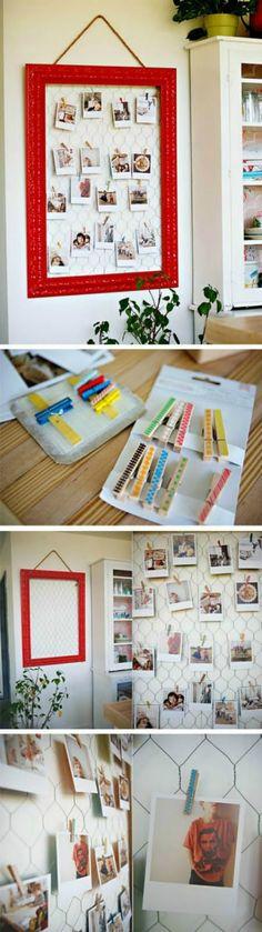20 ejemplos geniales y fáciles en plan DIY, para exponer tus fotos del verano.