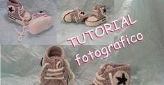 ♡ Crochet Tatting by Ale ♡ Baby Shoes Pattern, Shoe Pattern, Crochet Baby Shoes, Baby Items, Slippers, Sewing, Kids, Crafts, Newborns