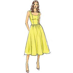 Buy Vogue Very Easy Women's A-Line Sleeveless Dress Sewing Pattern, 9100 Online at johnlewis.com
