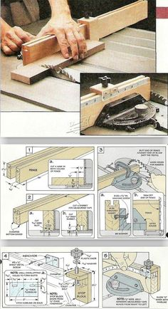 Miter Gauge Fence Plans - Table Saw Tips, Jigs and Fixtures | WoodArchivist.com