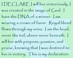 """Day 22 """"I Declare; 31 Promises to Speak Over Your Life"""" by Joel Osteen Encouragement Quotes, Faith Quotes, Faith Prayer, Salvation Prayer, Joel Osteen, Bible Prayers, Speak Life, Prayer Board, Gods Promises"""