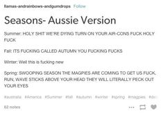 On the seasons: | 47 Times Australians Nailed It On Tumblr In 2015
