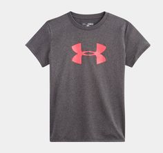 5c9140d3fa87 Girls  UA Big Logo Short Sleeve T-Shirt