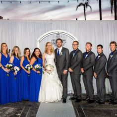 Royal Blue And Charcoal Grey Wedding Party For A Beach Photography True