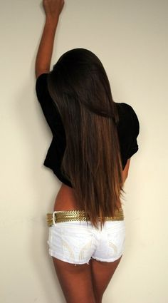 brown long hair