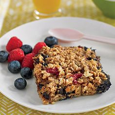 Breakfast Oatmeal Bake...substitute Brown sugar substitute, skim milk and egg whites...yum!
