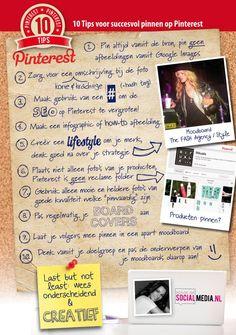 10 Tips voor succesvol pinnen op #Pinterest