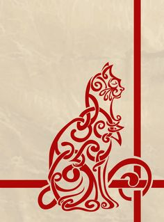Celtic Knotwork Cat