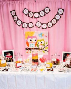 Hostess with the Mostess® - Kamryns Owl Themed First Birthday Party