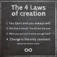 Las 4 leyes de la creación