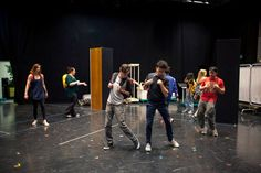 #WillConnolly and  the cast of #BeMoreChill the #Musical rehearse #choreography